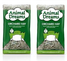 2 x Animal Dreams Orchard Food Hay Hamster Rabbit Guinea Pig Fibre Bedding 1kg