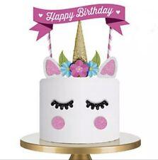Einhorn Kuchentopper Caketopper DIY Dekoration Geburtstag Deko Happy Birthday