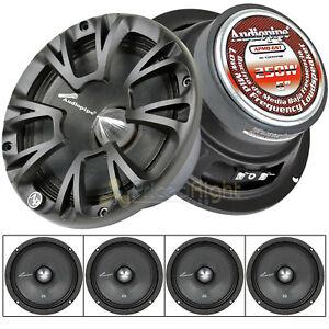 "4 Audiopipe 6"" Inch Low Midrange Speakers 800 Watts Max Power 4 Ohm APMB-6ST"