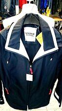 Jacke-Damen Nickel Fashion, Gr 40 marine Kapuze abehmbar Kragen weiße Paspel