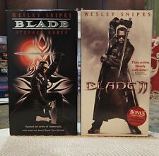 Blade 1 & 2 VHS Horror/Action New Line Home Video Wesley Snipes Both Copies Mint