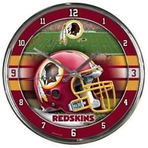 Washington Redskins Chrome Round Wall Clock [NEW] NFL Sign Banner Office Cave