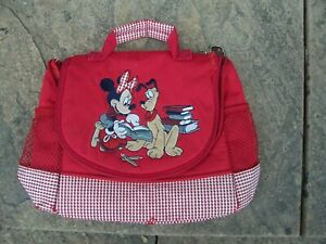 From The Disney Store Red And Check Minnie Mouse Lunchbox