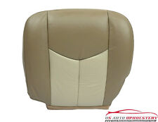 03-06 GMC Sierra Denali Truck *Driver Side Bottom Leather Seat Cover 2-TONE TAN