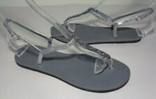 Havaianas Size 7 to 8 YOU RIVIERA Steel Grey Crystal Sandals New Women's Shoes