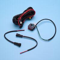 Universal Motorcycle Bike Spot Fog Light Wiring Loom Harness Kit Relay Switch !