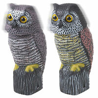 Owl Wind Action 360° Rotating Moving Head Ornament Garden Deter Bird Pest Animal