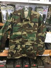 Woodland BDU Shirt  X Small Reg 100% Cotton Ripstop  New With Out Tags USGI