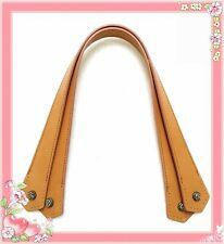 54cm Taschengriffe Echtes Leder Genuine Leather gelbbraun 1 Paar