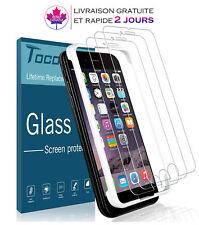 Lot de 3 films protecteurs d'écran+Coque Friendly pour iPhone 7 et iPhone 8
