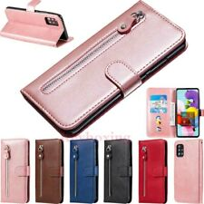 For Samsung S20 Ultra S10 S9 A51 A71 A41 Note 9 Zipper Wallet Leather Case Cover