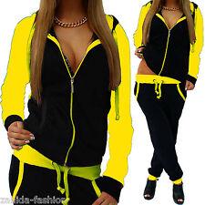 Damen Jogginganzug Jogging Jacke Hose Sportanzug Sporthose Fitness Neon UNI NEU