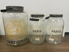 Vintage Style Decorative Glass Containers (Set of 3) Girdonde & Paris