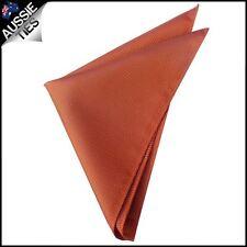 Burnt Orange Woven Texture Pocket Square