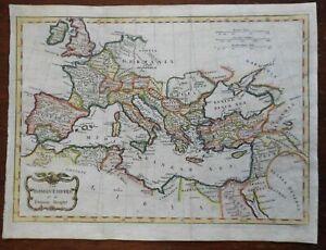Roman Empire Ancient World Mediterranean Basin 1802 Conder eagle cartouche map