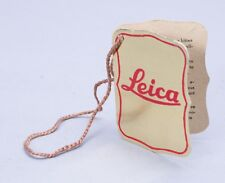 LEICA RED AND GOLD INSPECTION TAG FOR 1951/51 IIIF CAMERA #592030