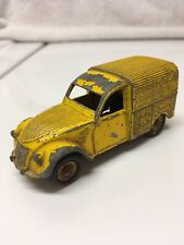 FRENCH DINKY TOYS CITROEN 2CV NO.560F 1963 YELLOW MADE IN FRANCE