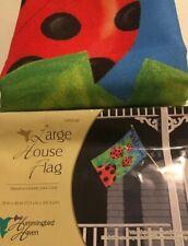 """Welcome Ladybugs Large House Flag 28"""" X 40"""""""