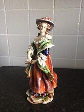 More details for stunning antique dresden porcelain figure