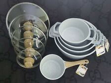 Masterclass Premium Casserole 10PC Set Ceramic  Gas Electric Induction with Lids