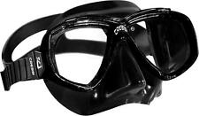 CRESSI Mask Low Volume Black Silicone Dive Spearfishing + Retail Box *NEW*