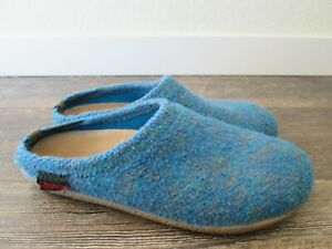 GIESSWEIN blue wool slippers Sz. 39