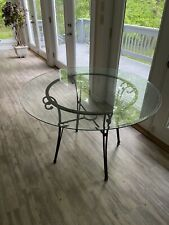 Glass Too Table - 60 Inch Round Glass Top 1/2 inch Thick With Beveled Edge, Carv