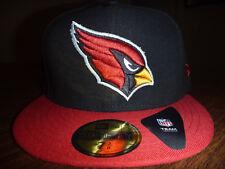 ARIZONA CARDINALS NEW ERA 59FIFTY NFL BLACK TEAM /RED BILL FITTED HAT SIZE 7 3/8
