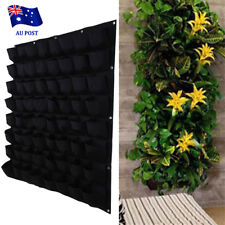 64 Pocket Vertical Garden Planter Wall Hanging Herbs Plant Seed Bag Home Decor E
