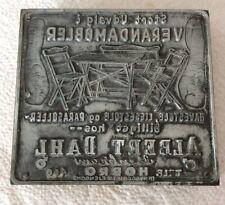 Vintage Printing Block Metal 4 Inx4 1/4 Ins ( advertisement)