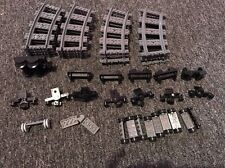 Huge Lot of Genuine Lego Train Track. 16 Curves and Wheels Lot