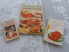 Lot of 3 Vintage Cookbooks Buffy's Family Affair Campbell Easy Way Blender Way