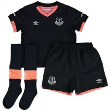Umbro Everton FC Baby 2016/17 Away Mini Kit - 6-12 Months - Navy/Pink - New