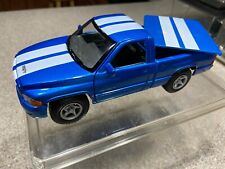 Maisto 1997 Dodge Ram SS/T Scale 1/26 Blue with White Racing Strips, Bed Cover