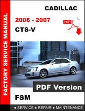 2006 - 2007 CADILLAC CTSV CTS-V 6.0L ENGINE SERVICE REPAIR MAINTENANCE MANUAL