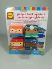 Alex Bath Stackable People Block Squirters Kids Bath Toy, 4 Pieces