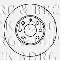 BORG & BECK BBD4073 BRAKE DISC PAIR for Vaux opel.astra IV zafira 98-