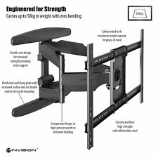 Invision® Ultra Strong TV Wall Bracket Mount Fit 37 to 70inch TV Incl HDMI Cable