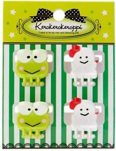 Keroppi Mini Hair Clips Set of 4 Sanrio Girls Hair Accessories