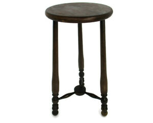 Wooden Side Wine Table Pedestal Plant Bonsai Stand Two Tier Barn Country Style
