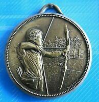 """#0530# Médaille ancienne """"Tir al Arc"""" en bronze"""