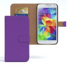 Tasche für Samsung Galaxy S5 / Neo Case Wallet Schutz Hülle Cover Lila