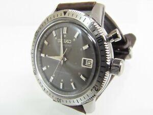 Vintage 1964 SEIKO CHRONOGRAPH MONO-PUSHER WATCH 5717-8990 S/S 21j Parts/Repair