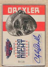 Clyde Drexler 9 2012-13 Panini Marquee Election Night Autograph Auto 07/49