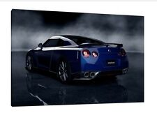Nissan GTR 30x20 Inch Canvas - Framed Picture Poster Print