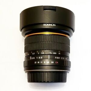 Rokinon 8mm f3.5 Fisheye Lens - Canon EF mount APS-C