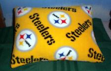 NEW STEELERS FLEECE PILLOW BLACK GOLD PITTSBURGH NFL FOOTBALL OBLONG