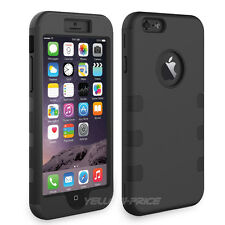 Heavy Duty Rubber Soft Hard 3in1 Combo Hybrid Case Cover For iPhone 6 4.7-inch