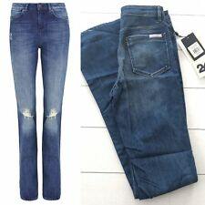 New Women's Sass & Bide Colour Craft Jeans NWT High Rise Flare 24 Distressed