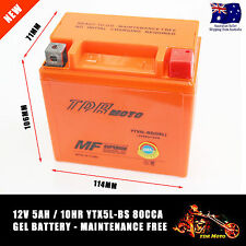 12V 5A YTX5L-BS Motorcycle Mortorbike Scooter Quad Deep Cycle AGM GEL Battery